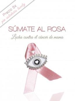 Pin solidario contra el cáncer de mama